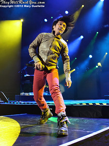 "Arnel Pineda of Journey performs on November 3, 2012 in support of ""Eclipse"" at the Verizon Wireless Arena in Manchester, N.H."