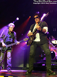 "Ross Valory and Neal Schon of Journey performs on November 3, 2012 in support of ""Eclipse"" at the Verizon Wireless Arena in Manchester, N.H."