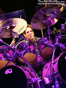 "Deen Castronovo of Journey performs on November 3, 2012 in support of ""Eclipse"" at the Verizon Wireless Arena in Manchester, N.H."