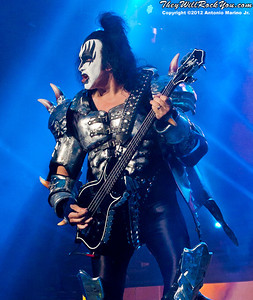 Gene Simmons of KISS performs at the Nikon Jones Beach Theater on September 22, 2012