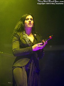 Cristina Scabbia of Lacuna Coil performs at 'Gigantour' on January 29, 2012 at the Tsongas Center in Lowell, Massachusetts