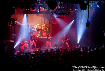 """Lamb of God performs on January 24, 2012 during the record release party for """"Resolution"""" at Irving Plaza in New York, NY"""
