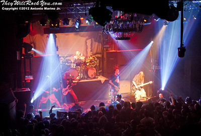 "Lamb of God performs on January 24, 2012 during the record release party for ""Resolution"" at Irving Plaza in New York, NY"