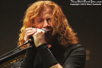 Dave Mustaine of Megadeth performs on January 29, 2012 on 'Gigantour' at the Tsongas Center in Lowell, Massachusetts