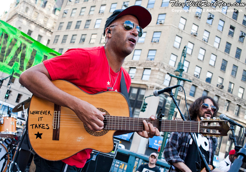 Tom Morello performs at the Occupy Wall Street Anniversary Concert - September 16, 2012