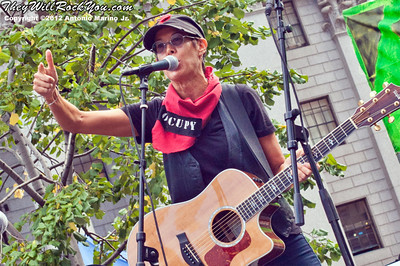 Michelle Shocked performs at the Occupy Wall Street Anniversary Concert - September 16, 2012