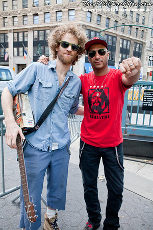 Chad Stokes and Tom Morello at the Occupy Wall Street Anniversary Concert - September 16, 2012