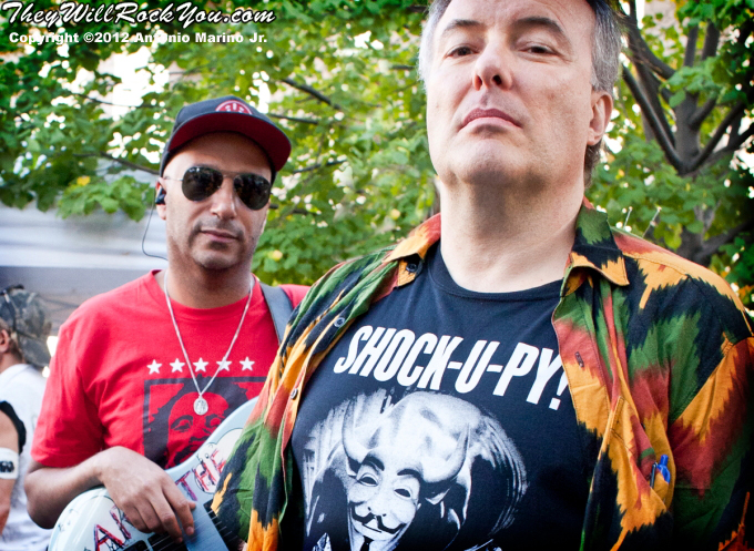 Tom Morello and Jello Biafra at the Occupy Wall Street Anniversary Concert - September 16, 2012
