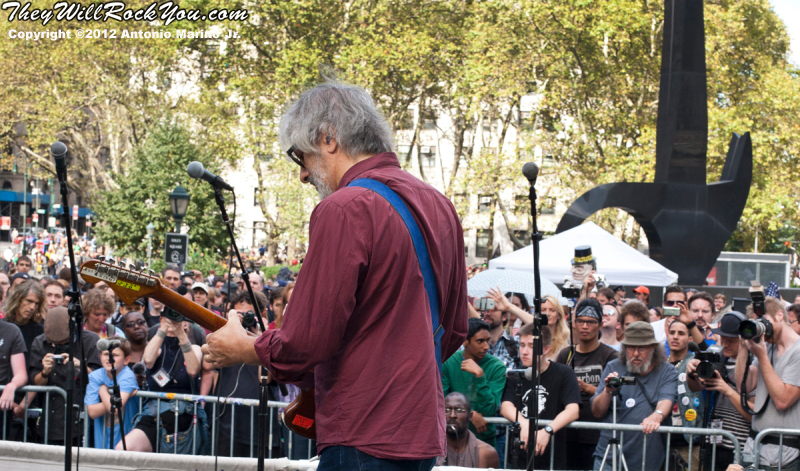 Lee Ranaldo performs at the Occupy Wall Street Anniversary Concert - September 16, 2012