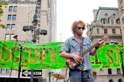 Chad Stokes of Dispatch performs at the Occupy Wall Street Anniversary Concert - September 16, 2012