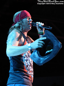 Poison performs at the Comcast Center in Mansfield, MA