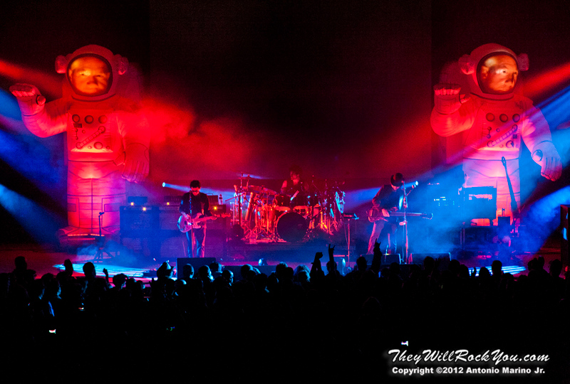 """Primus performs on October 12, 2012 during the kickoff of their """"Primus 3D"""" tour at the Mid-Hudson Civic Center in Poughkeepsie, NY"""