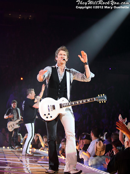 Rascal Flatts performs on January 27, 2012 during their 'Thaw Out' tour at the Dunkin Donuts Center in Providence, RI.