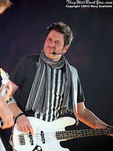 Joe DeMarcus of Rascal Flatts perform on January 27, 2012 during their 'Thaw Out' tour at the Dunkin Donuts Center in Providence, RI.