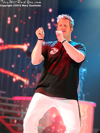 Gary LeVox of Rascal Flatts performs on January 27, 2012 during their 'Thaw Out' tour at the Dunkin Donuts Center in Providence, RI.