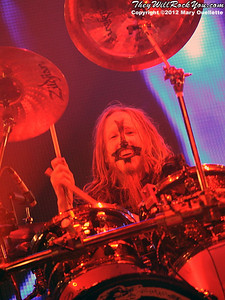 "Ginger Fish of Rob Zombie performs on October 21, 2012 on the ""Twins of Evil"" tour at the Verizon Wireless Center in Manchester, New Hampshire"