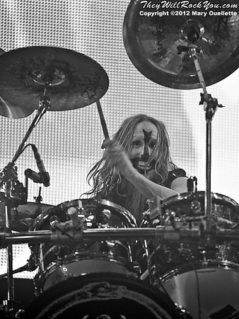 "Rob Zombie and his band perform on October 21, 2012 on the ""Twins of Evil"" tour at the Verizon Wireless Center in Manchester, New Hampshire"