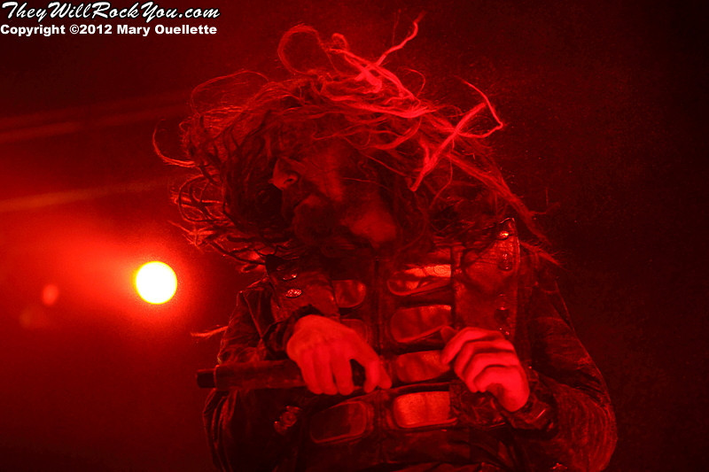 "Rob Zombie performs on October 21, 2012 on the ""Twins of Evil"" tour at the Verizon Wireless Center in Manchester, New Hampshire"