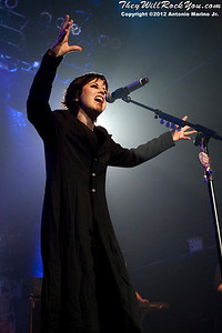 Dolores O'Riordan of The Cranberries performs on May 2, 2012 at Terminal 5 in New York, NY