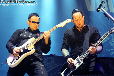 Volbeat perform at 'Gigantour' on January 29, 2012 at the Tsongas Center in Lowell, Massachusetts