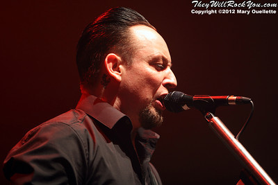 Michael Poulsen of Volbeat performs at 'Gigantour' on January 29, 2012 at the Tsongas Center in Lowell, Massachusetts