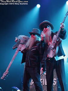 ZZ Top kicks off their 'Gang of Outlaws' Tour at the Verizon Wireless Center in Manchester, NH on May 25, 2012