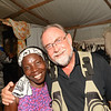 Mimose and Tim Hetzner, President of LCC.  Tim stayed with Mimose and her 7 children in the tent city in Port au Prince