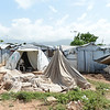Tents damaged by Tropical Storm Isaac