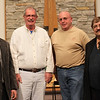 January 26, 2012 - Commissioning of team leaving from Immanuel Lutheran Church in Freeport, Illinois - Pastor Schultz, Keith Stanton, Bob Wiederholtz and Pastor Schwichtenberg. Team member not pictured is Jim Clay.