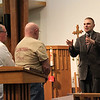 January 26, 2012 - Commissioning of team leaving from Immanuel Lutheran Church in Freeport, Illinois - Pastor Schultz, Keith Stanton and Bob Wiederholtz. Team member not pictured is Jim Clay.