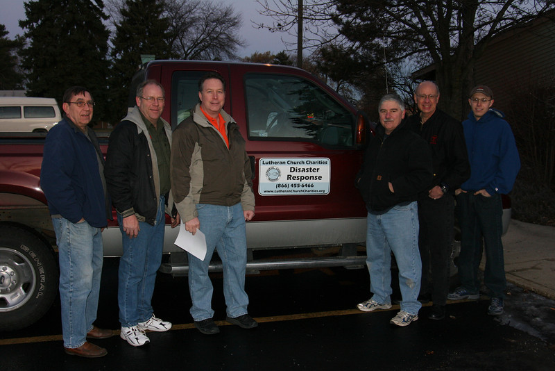 January 27, 2012 - Team leaving from LCC offices Ed Pate, Steve Chester, Tim Kurth, Marty Johnson, Larry Fieldman, Scott Skelly