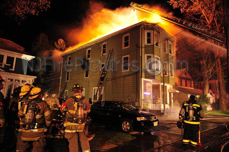 NETCONG, NJ FATAL 3 ALARM FIRE at 10 MAIN ST. APRIL 6, 2012