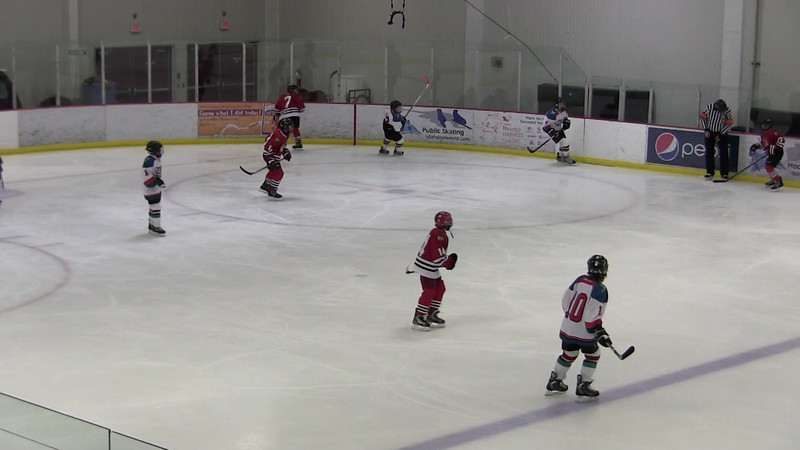 1st period highlights. Goals by #14, #11, and #13.