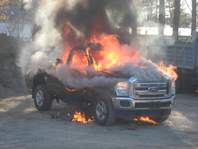 115 Park Street, Norfolk - April 4, 2012: Pickup Truck Fire