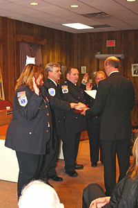 Demerst EMS Members Swearing in serrvice town haul 1-1-12