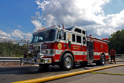 North Arlington Wet Down Engine 2 KME 8-18-12