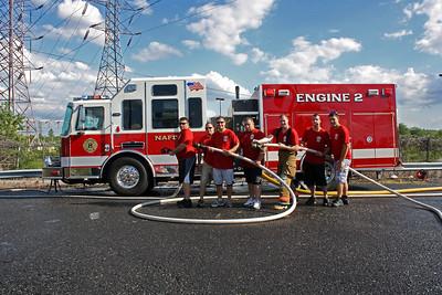 North Arlington Wet Down Engine 2 KME 8-18-12
