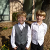 Wyatt and Parker looking spiffy