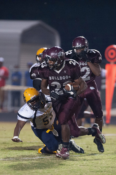 Nash Central Jarius Richardson #23  during to nights game.Rocky Mount defeats Nash Central 13-6 in Nashville North Carolina.