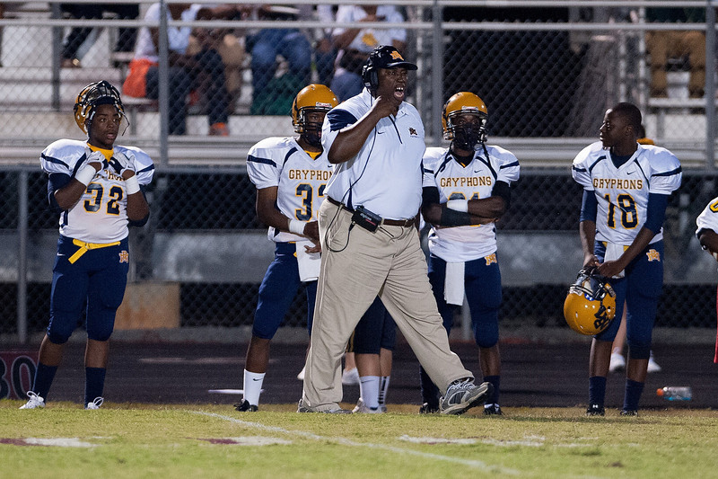 Rocky Mount coach during to nights game.Rocky Mount defeats Nash Central 13-6 in Nashville North Carolina.