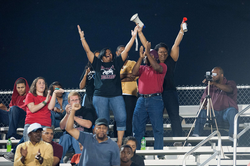 Nash Central fans Celebrate after scoring a TD during to nights game.Rocky Mount defeats Nash Central 13-6 in Nashville North Carolina.