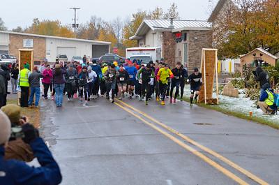 Harvest Half Marathon start and trail run-25
