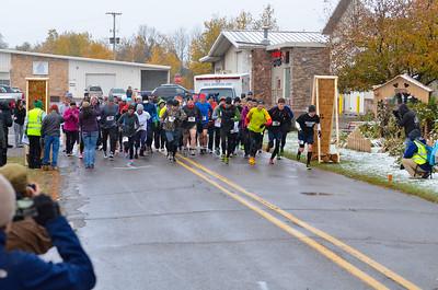 Harvest Half Marathon start and trail run-26