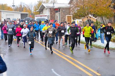 Harvest Half Marathon start and trail run-30