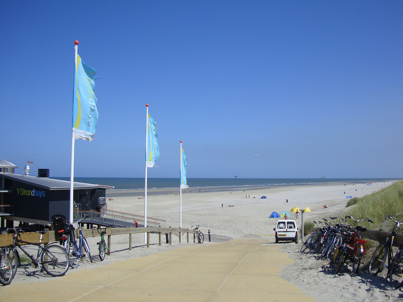 This is one of several beaches facing the North Sea and we spent most of one day at the beach.