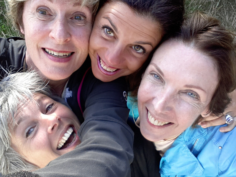 Tina with three of us who met in January on a Sufi trip in Istanbul.<br /> Tina, Barbara, Nadya, Sita