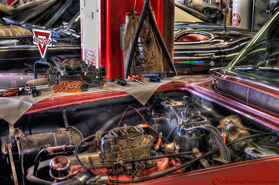 Hose Candy Red Corvette under the hood C 7348 copy