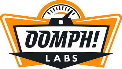 Oomph Labs logo black white orange