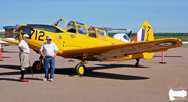 Dad next to the Fairchild Cornell