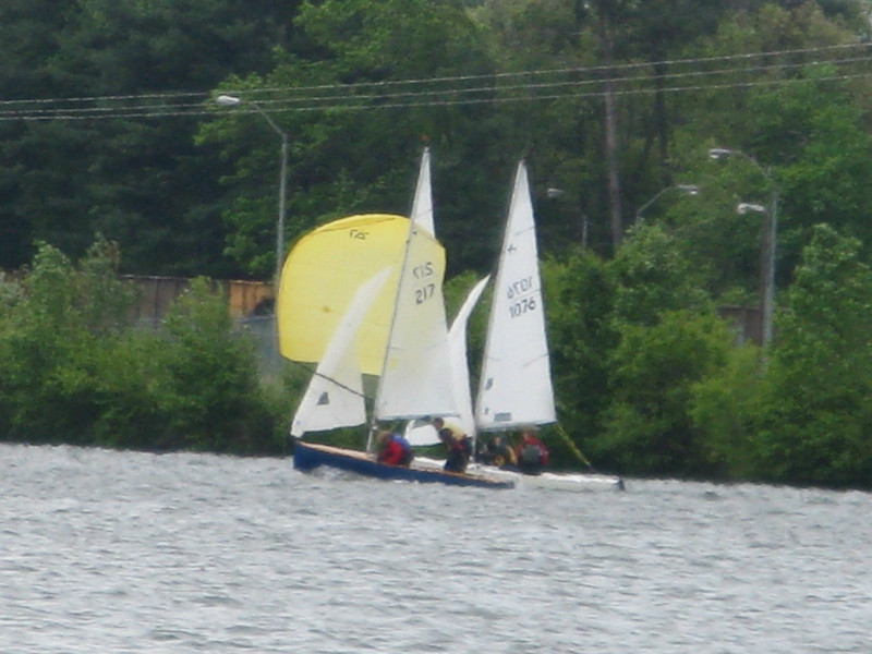 Spinnakers were a rare sight on Sunday but when they did come out it made for some wild runs